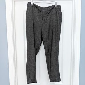 Banana Republic Ryan gray tweed ankle trousers